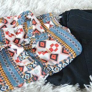 H&M Aztek Print blouse